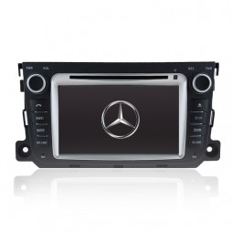 7' GPS NAVIGATION DVD SAT NAV IPOD BLUETOOTH SD USB RADIO FOR MERCEDES SMART
