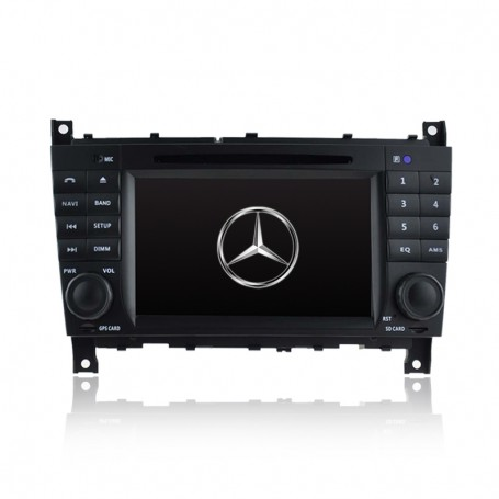 7' GPS NAVIGATION DVD IPOD BLUETOOTH RADIO FOR MERCEDES C/CLK CLASS W203 W209
