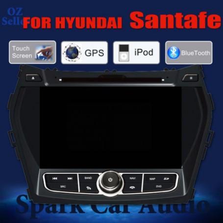 AFTERMARKET GPS DVD SAT NAV IPOD BLUETOOTH USB NAVI FOR HYUNDAI SANTAFE 2013+