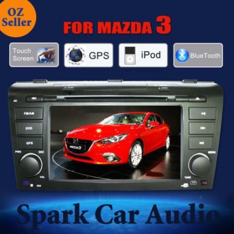 "7"" MAZDA 3 Navigation Multimedia System GPS DVD Bluetooth IPOD USB (2003-2008)"
