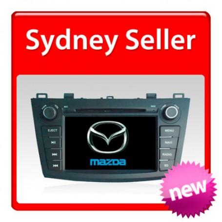 "Mazda 3 Navigation Multimedia system with 7"" Dvd Ipod Bluetooth Radio 2008 onward"