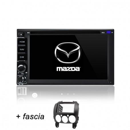 AFTERMARKET MAZDA 2 GPS DVD SAT NAV IPOD BLUETOOTH NAVIGATION STEREO 2007-2014