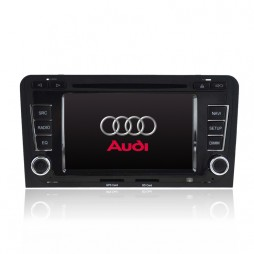 GPS NAVIGATION MULTIMEDIA SAT NAV WITH DVD IPOD BLUETOOTH RADIO FOR AUDI A3